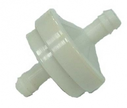 "Fuel filter, fits BS 1/4"" Line, white"