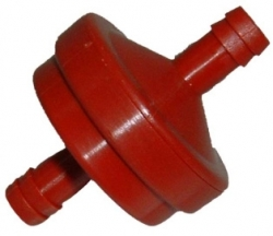 "Fuel filter, fits BS 1/4"" Line, red"