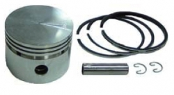 Piston with pin&clips + Ring set, fits BS 3, 3,5 A 5 HP